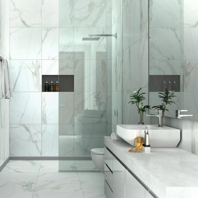 Porcelanato marmoleado, Porcelanato tipo marmol