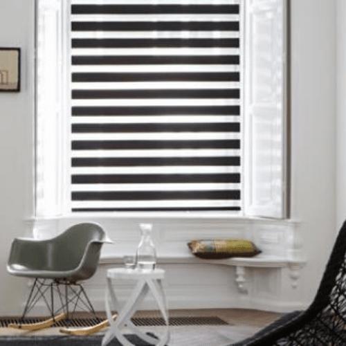 cortinas zebra cortinas cebra cortinas duo cortinas twinline enrollables negras manuales