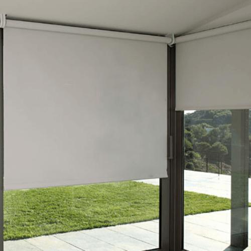 cortina enrollable blackout blanca black out quito cortinas