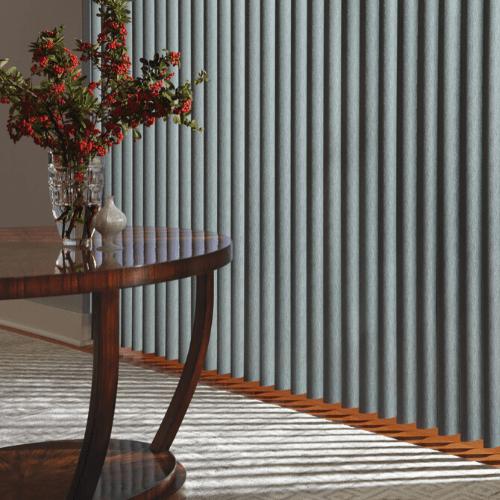 Persianas Verticales de PVC color gris cortinas verticales gris sala