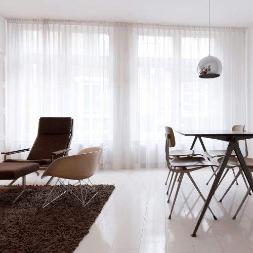 Cortina tradicional de tela Visillo elegante moderno sala comedor quito